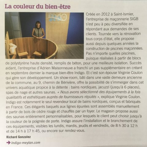 Article dans le magazine Meylan ma ville