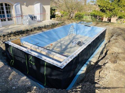 Construction d'une piscine 9m x 4m à Saint Paul de Varces