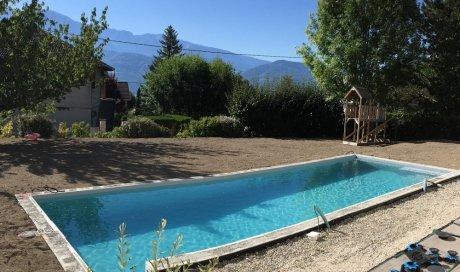 Construction piscine 10m x 4m à Saint Ismier près de Grenoble