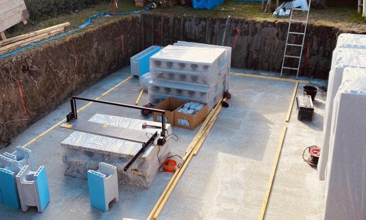 Construction d'une piscine sur mesure au Versoud