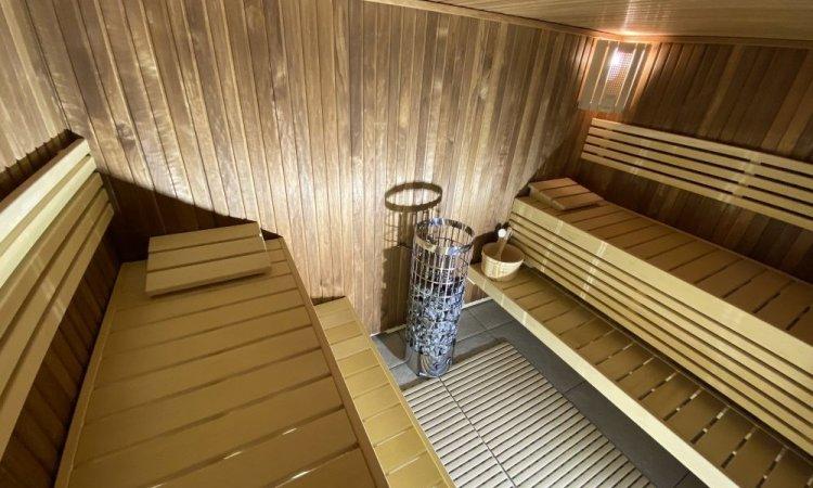 Sauna Harvia monté