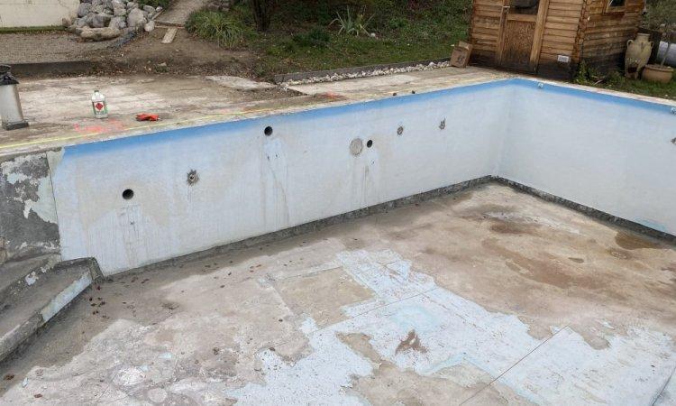 Rénovation d'une piscine 10m x 5m à Saint Ismier