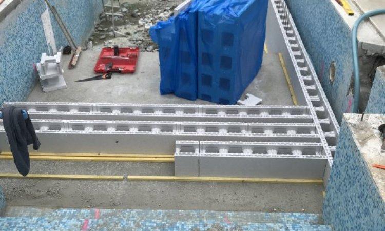 Rénovation piscine 8m x 3.50m au Versoud