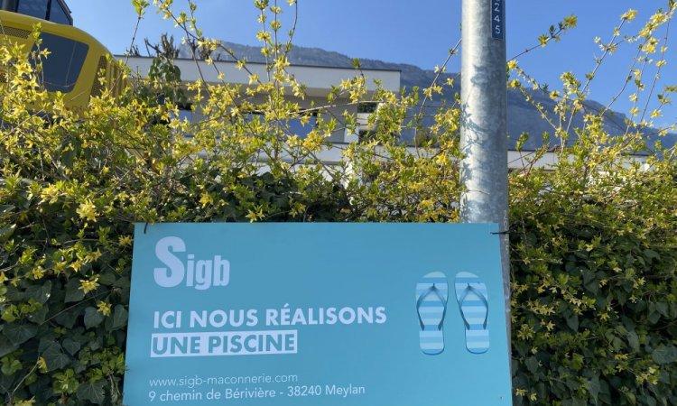Piscine 8.50m x 4m à Meylan dans le Grésivaudan près de Grenoble